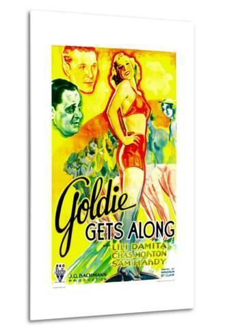 GOLDIE GETS ALONG, right: Lili Damita, 1933.--Metal Print