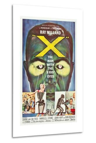 The Man With the X-Ray Eyes, poster art, 1963--Metal Print