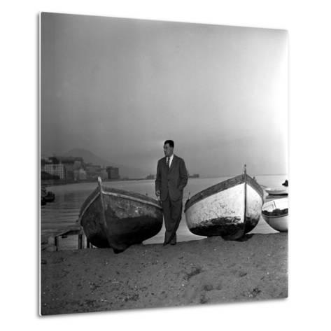 Giuseppe Marotta in Naples, 23rd November 1956--Metal Print