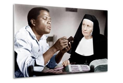 LILIES OF THE FIELD, from left: Sidney Poitier, Lilia Skala, 1963--Metal Print