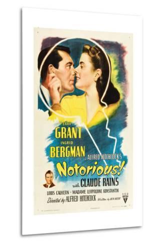 NOTORIOUS, Cary Grant, Ingrid Bergman, Claude Rains, 1946--Metal Print