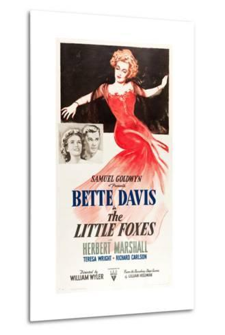 THE LITTLE FOXES, l-r: Teresa Wright, Herbert Marshall, Bette Davis on poster art, 1941--Metal Print