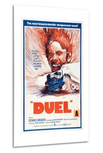 Duel, New Zealand poster, Dennis Weaver, 1971--Metal Print