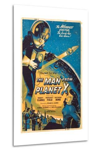 The Man From The Planet X, Pat Goldin, Margaret Field, 1951--Metal Print