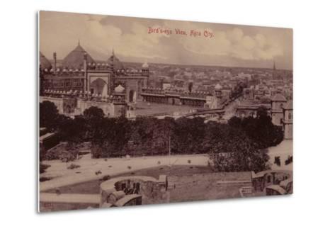 Bird'S-Eye View, Agra City--Metal Print
