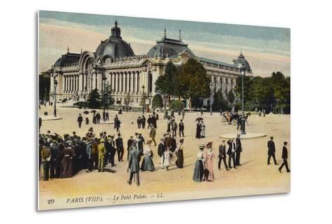 Postcard Depicting Le Petit Palais--Metal Print