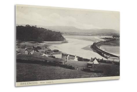 Greenodd and the River Leven, Lancashire--Metal Print