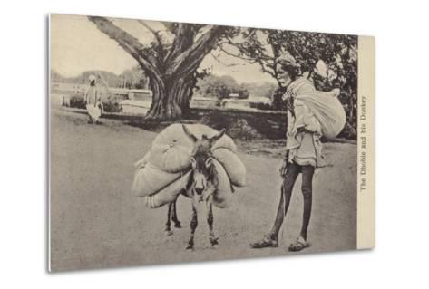 The Dhobie and His Donkey--Metal Print