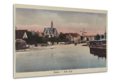 Rote Syhl, Emden, Germany--Metal Print