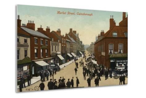 Market Street, Gainsborough--Metal Print