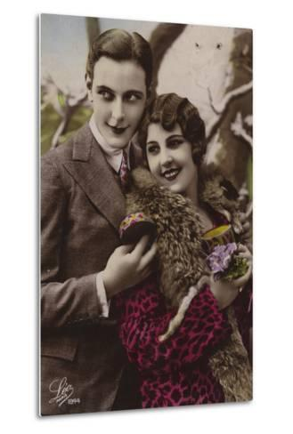 Happy Young Couple--Metal Print