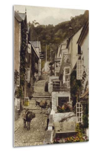 High Street, Clovelly, Devon--Metal Print