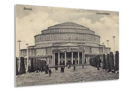 Postcard Depicting the Centennial Hall--Metal Print
