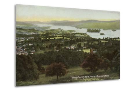 Windermere from Orrest Head, Lake District--Metal Print
