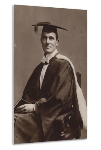 Man in Academic Costume--Metal Print