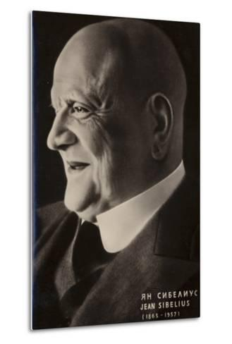 Portrait of Jean Sibelius--Metal Print