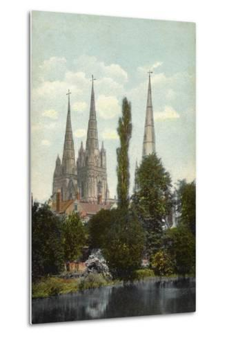 Lichfield, Cathedral--Metal Print