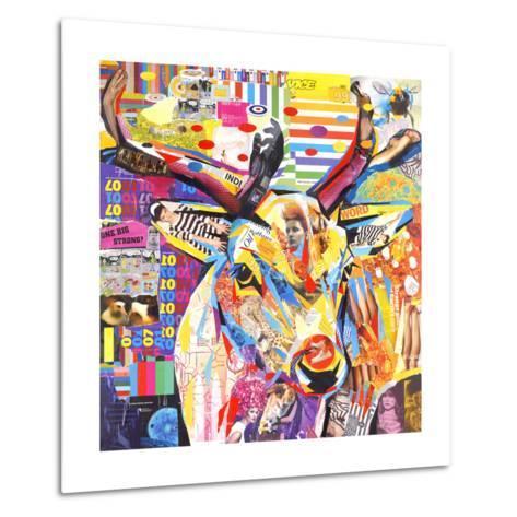 Funky Deer-James Grey-Metal Print