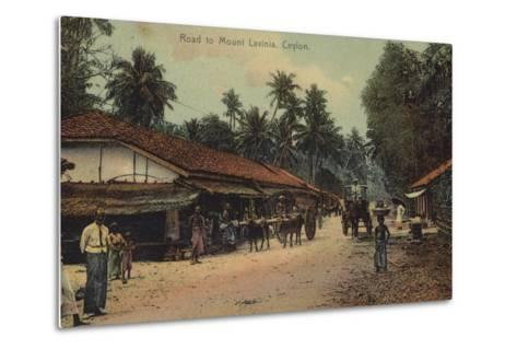 Road to Mount Lavania in Ceylon--Metal Print