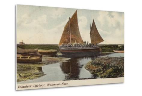 Volunteer Lifeboat, Walton-On-Naze--Metal Print