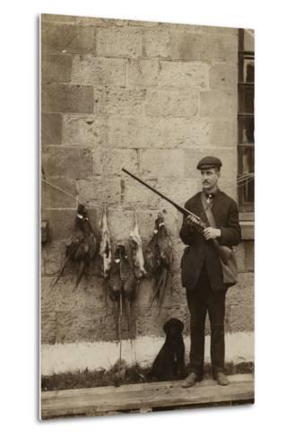 Hunter with Pheasants--Metal Print