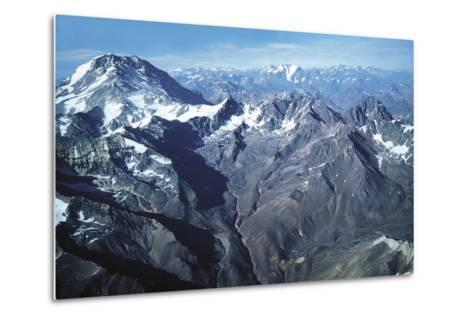 The Andes and Aconcagua--Metal Print