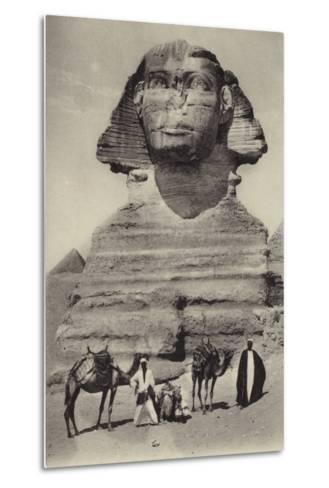 Egypt - the Sphinx--Metal Print