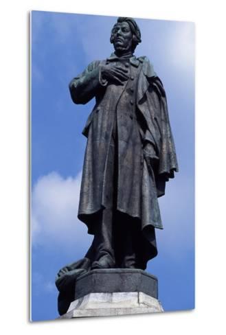 Statue of Adam Mickiewicz, Warsaw--Metal Print