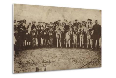 The Donkeys, Blackpool--Metal Print