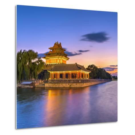 China, Beijing, Forbidden City, Palace Moat-Alan Copson-Metal Print