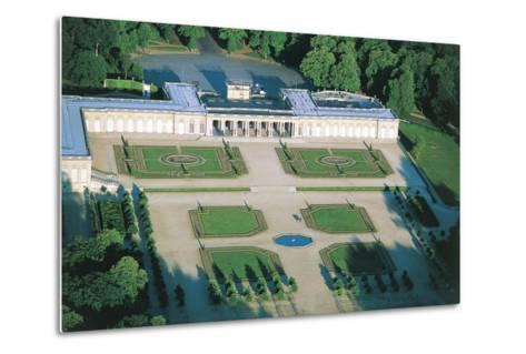 France, Aerial View of Palace of Versailles--Metal Print