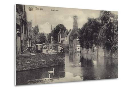 Postcard Depicting the Quai Vert--Metal Print