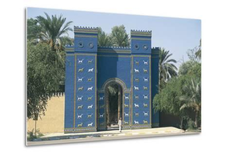 Reconstruction of the Ishtar Gate--Metal Print