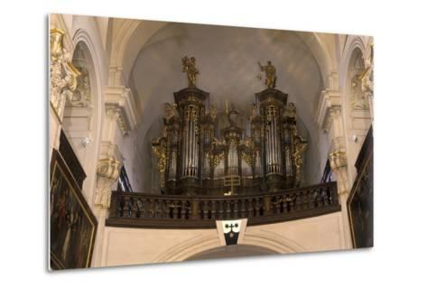 Organ in the Church of St. Gall--Metal Print