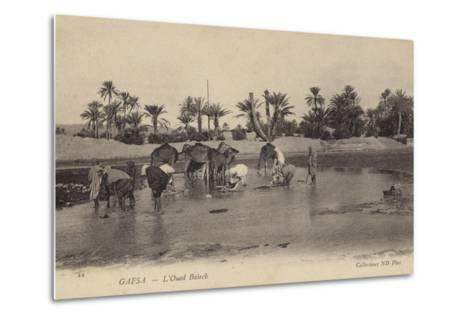 Oued Baiech at Gafsa in Tunisia--Metal Print