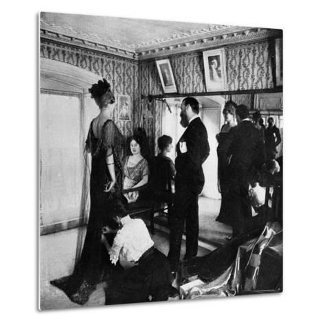 Jacques Doucet in His Atelier, 1910--Metal Print
