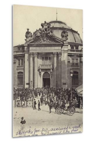 Postcard Depicting the Bourse De Commerce--Metal Print