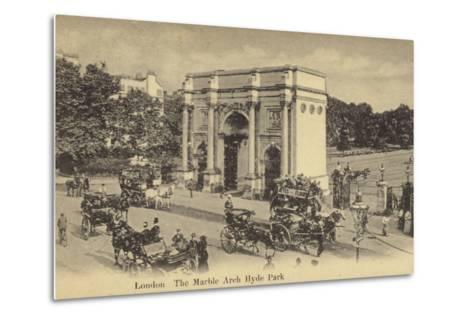 London, the Marble Arch Hyde Park--Metal Print