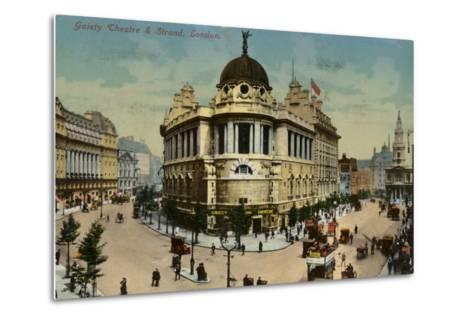 Gaiety Theatre and Strand, London--Metal Print