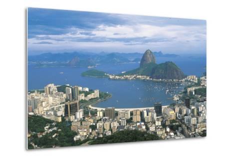 View of Rio De Janeiro and Sugarloaf Mountain--Metal Print