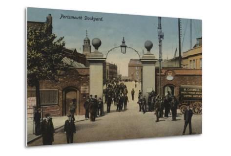 Portsmouth Dockyard--Metal Print
