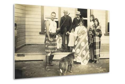 Family Group, C.1920--Metal Print