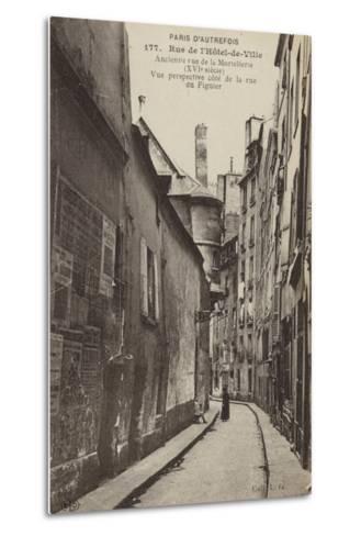 Postcard Depicting Old Paris--Metal Print