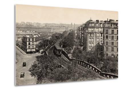 Metro on Boulevard De Grenelle, Paris, 1910--Metal Print