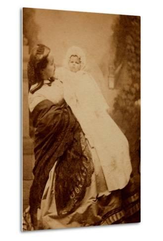 Woman with Her Child--Metal Print