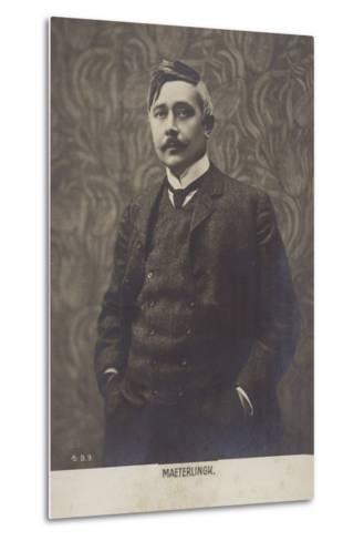 Portrait of Maurice Maeterlinck--Metal Print