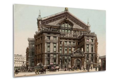The Opera Seen from Boulevard Haussmann, 1900--Metal Print