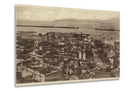 View of the Bay, Gibraltar--Metal Print
