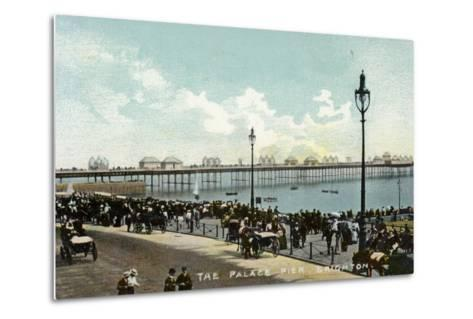 The Palace Pier in Brighton--Metal Print