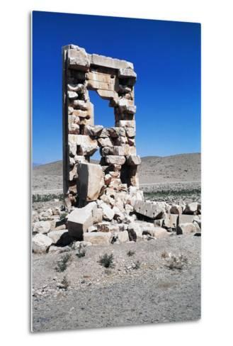 Ruins of the Archaeological Site of Pasargad--Metal Print